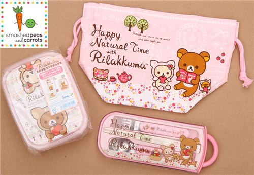 Win this cute Rilakkuma bento set on the blog smashed peas and carrots