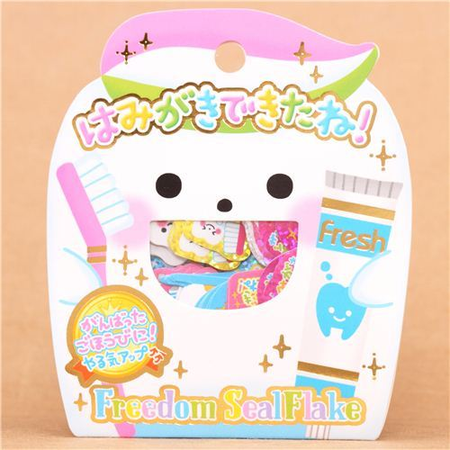 tooth dental care toothbrush sticker sack Crux