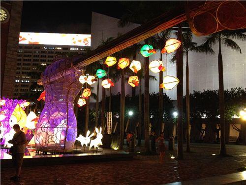 Beautiful Lantern carnival in Tsim Sha Tsui