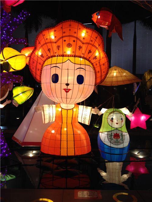 Russian woman lantern