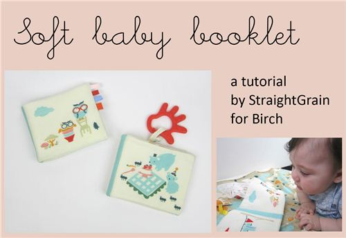 Tutorial for a soft baby booklet by Plum and June with birch fabrics