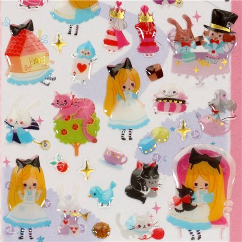 cute Alice in Wonderland sticker Fairy Tale World