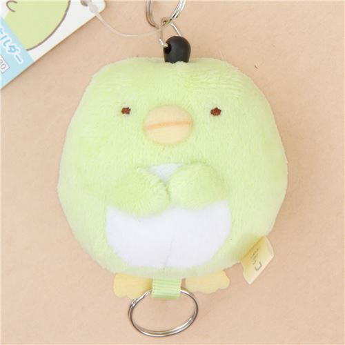 cute soft Sumikkogurashi green shy penguin plush charm by San-X