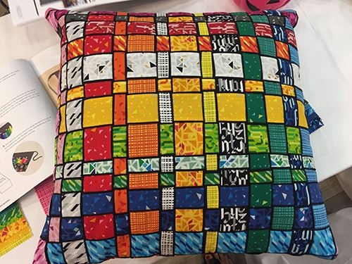 This pillow made of Lecien fabrics is adorable!
