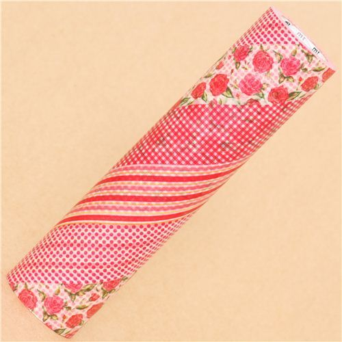 super wide mt Casa Washi Tape 20cm red rose deco tape