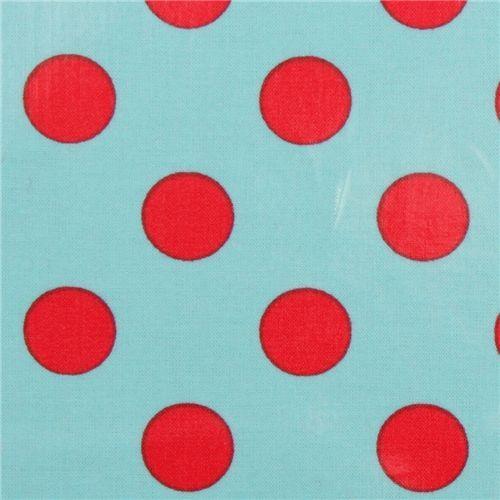 Michael Miller premium laminate fabric red dots