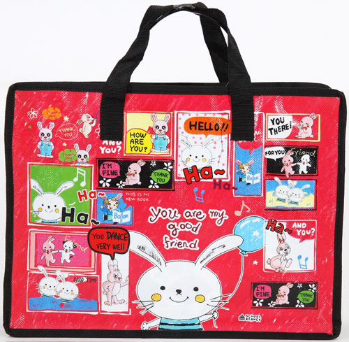 pinkfoot red bunny bag