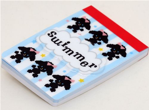 SWIMMER memo pad poodle