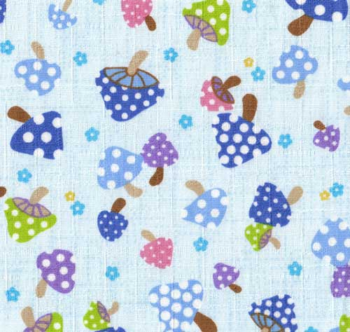 cute Kokka Fabric with mushrooms