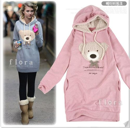 hoodie with teddy bear
