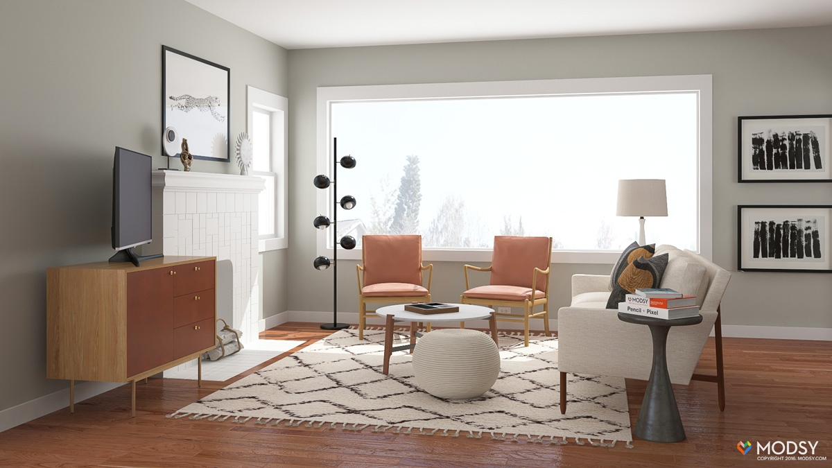 Layout Hacks Incorporate Tv Viewing Into Any Living Room Layout   Open Concept With Stairs In Middle   Space   Dining Room   Kitchen   House   Living Room