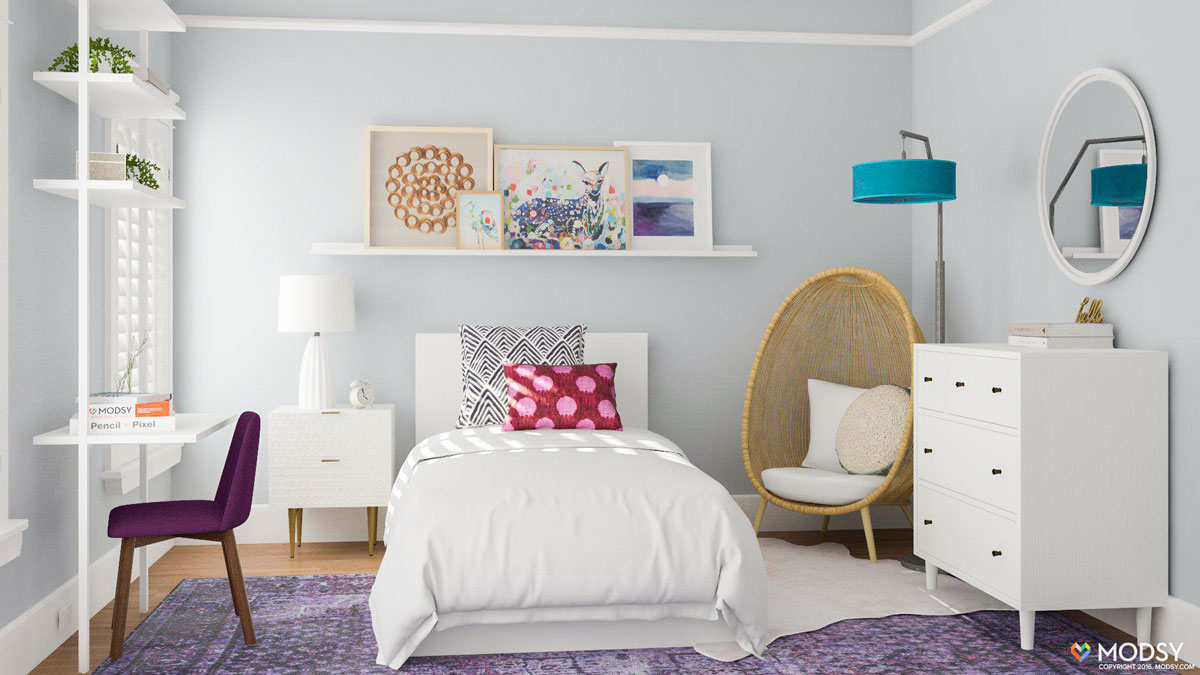 8 Cool Kids Bedroom Ideas From Modsy Customer Spaces on Cool Bedroom Ideas For Small Rooms  id=20615
