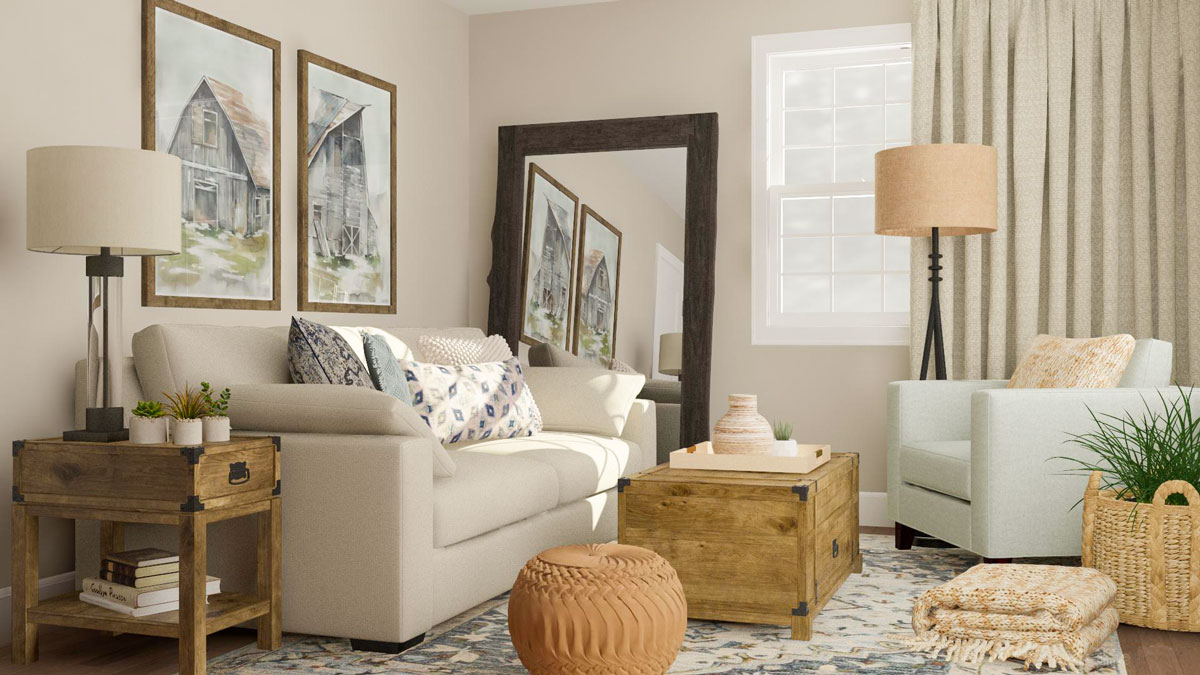 9 Rustic Design Ideas To Personalize Your Living Room Modsy Blog