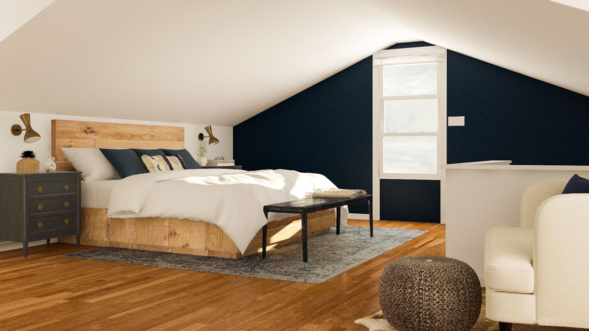 Layout Ideas For A Stylish Attic Bedroom Modsy Blog