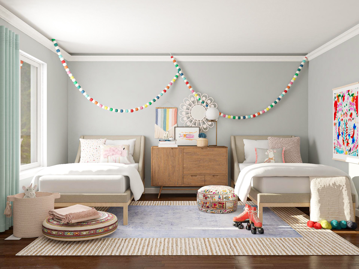 Shared Kids Bedroom Layout Ideas: 10 Cute and Stylish ... on Rooms For Teenagers  id=99781