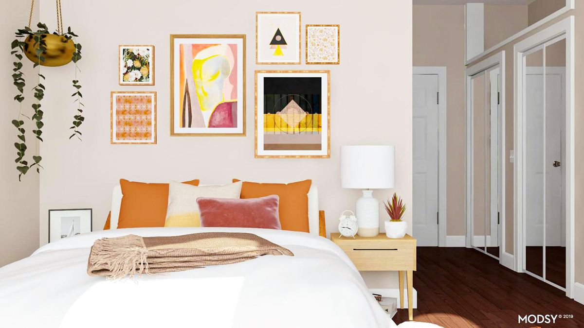 wondering what to hang above your bed