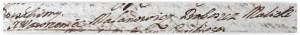 Podpis księdza Wawrzyńca Malanowicza