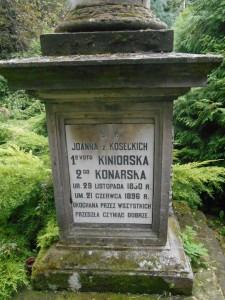 Grób Joanny Kinior Konarskiej z domu Kosseckiej