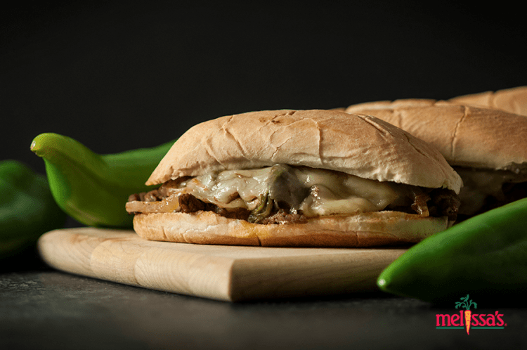 Hatch Chile Steak Sandwich from Melissa's Hatch Chile Cookbook