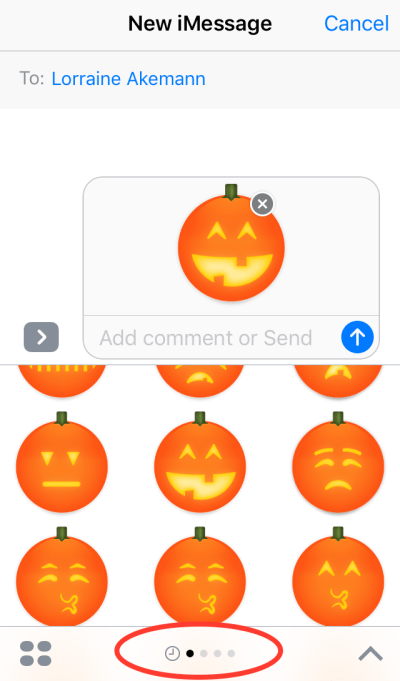 stickers in iMessage