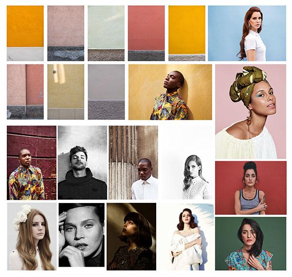 Esempio di moodboard per organizzare un servizio fotografico. Idea a cura di Monica Monimix Antonelli