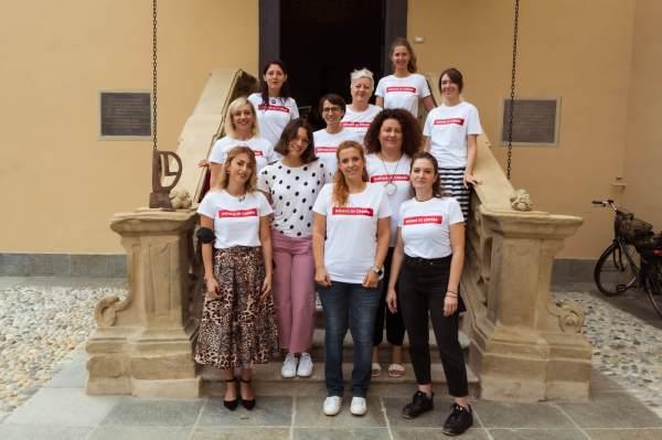 Le donne di Crema che hanno partecipato all'evento. Nella foto mancano Lina Casalini, Francesca Baldrighi e Stefania Agosti