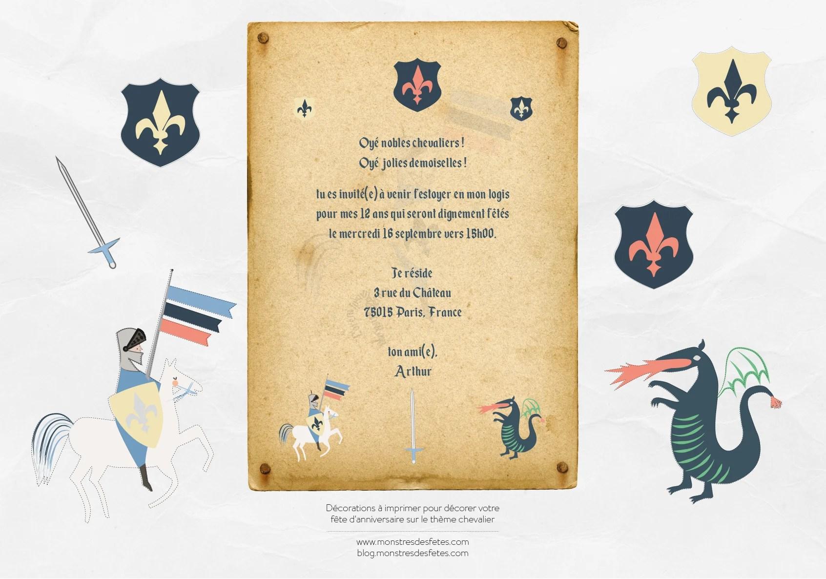 invitation et decoration anniversaire