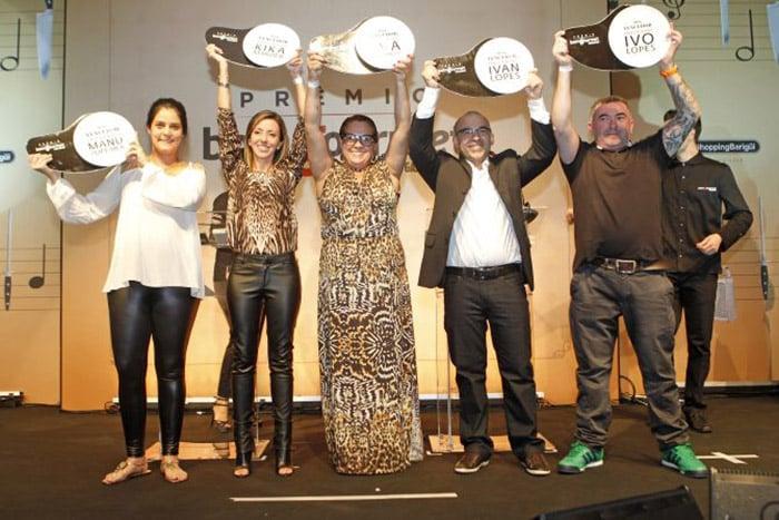 Noite de premiação do Prêmio Bom Gourmet 2014 no Park Cultural no Park Shopping Barigui. Na foto os Chefs Manu , Kika, Eva, Ivan e Ivo, os vencedores do chef 5 estrelas do Prêmio Bom Gourmet Gazeta do Povo.