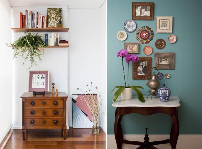 decoração vintage quadros