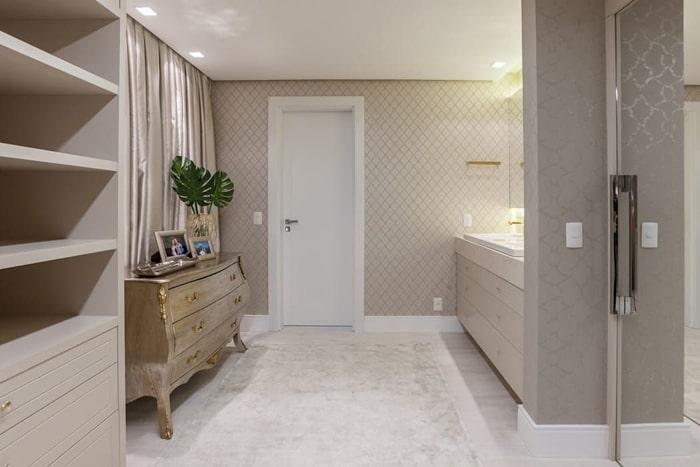 decoração de banheiro clean