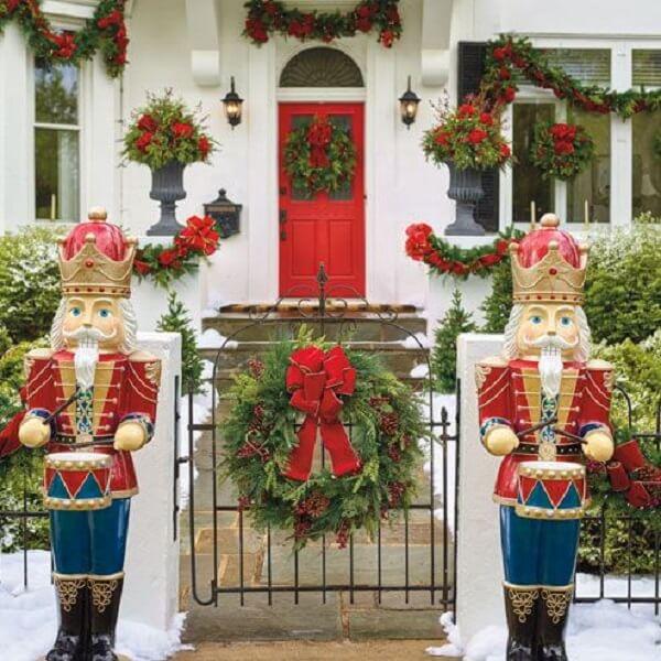 decoração de Natal nas fachadas soldadinho