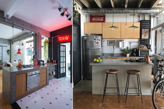 estilo industrial cozinha