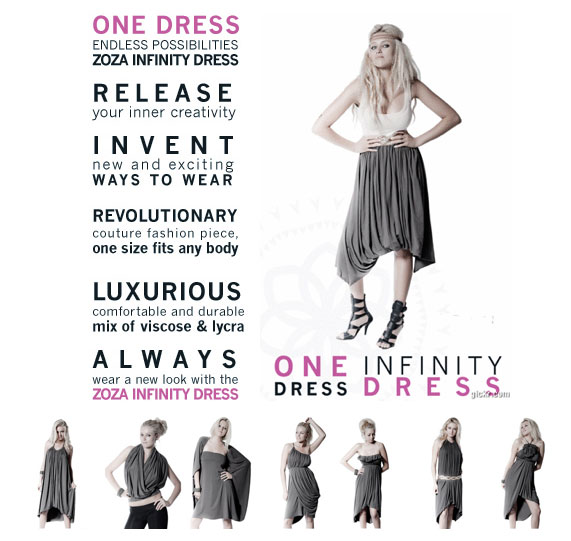 Multiple ways to wear dress
