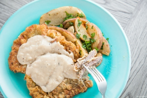Chicken Fried Steak Recipe, The Moonberry Blog