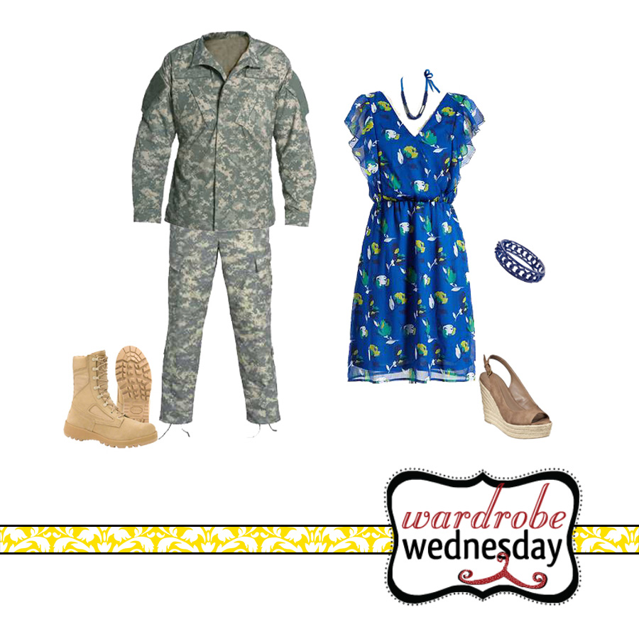 outfits to match military green uniforms