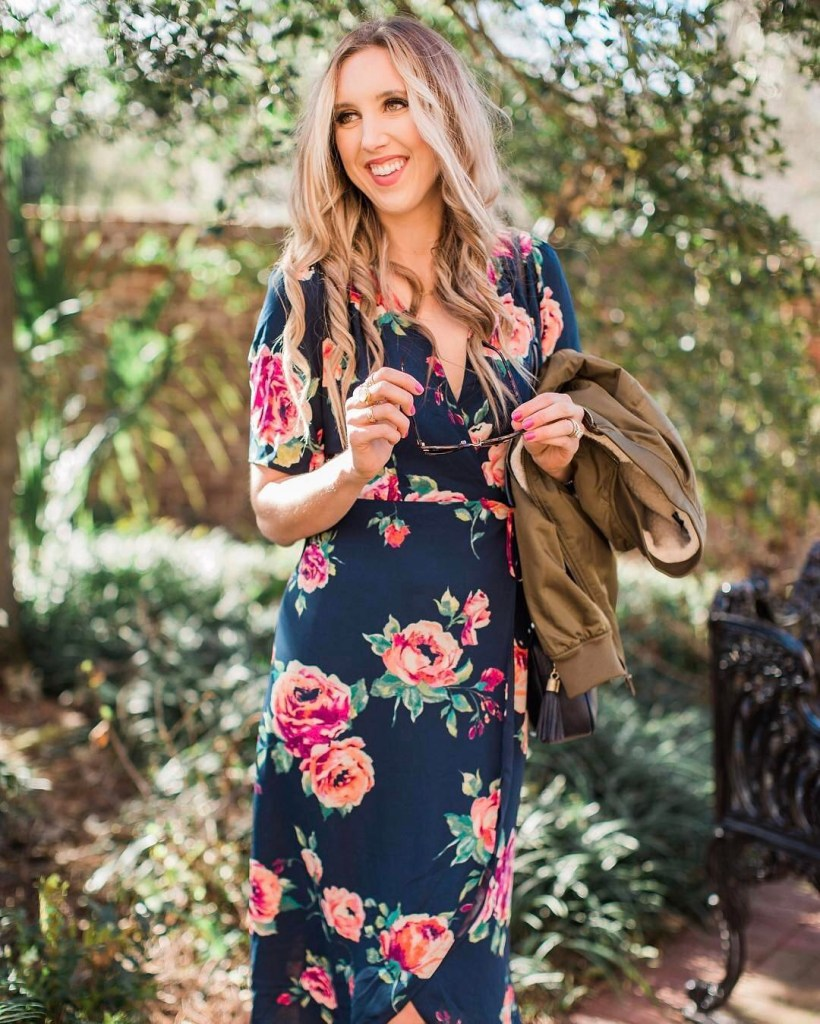 Loving juliannaclaire in our top selling Annelise Floral Midi Wraphellip