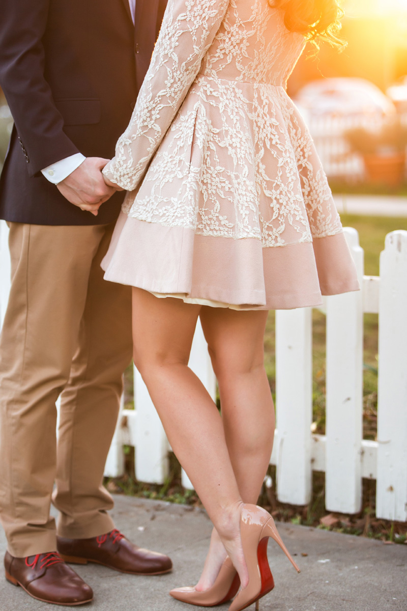 valentine's couple photoshoot, romantic clothes, cute clothes for women, engagement outfits, morning lavender