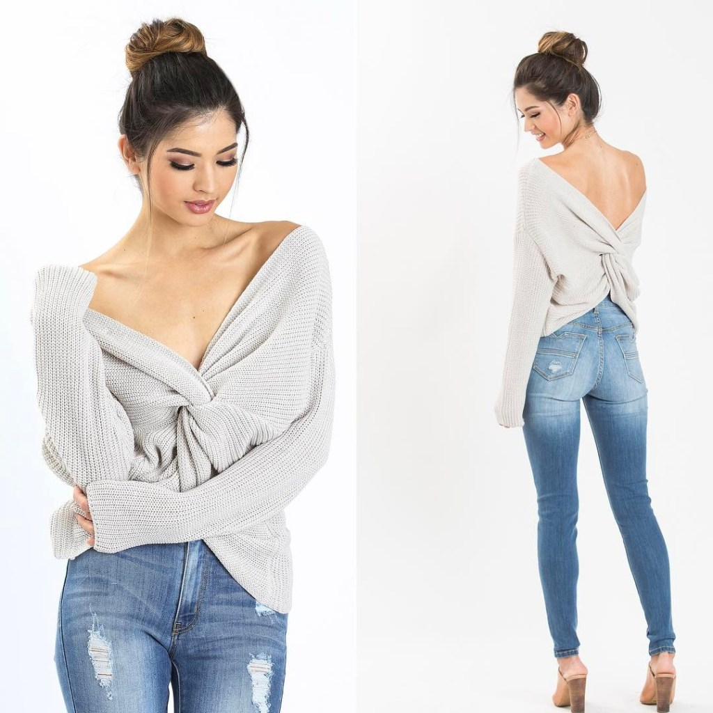 Did you know our new Carly Twisty Sweater can behellip