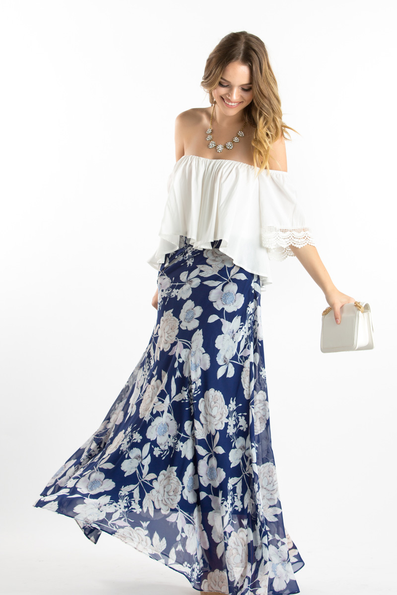 morning lavender cute maxi skirts for women - 59