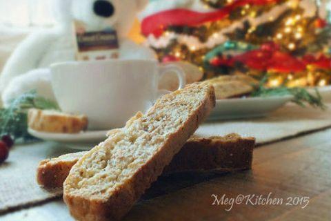 【聖誕節燕麥食譜】 健康簡易 Oats Biscotti,手作堅果燕麥義式脆餅
