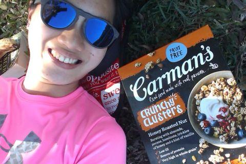 【 麥片女孩 Leslie 】Carman's 蜂蜜烤堅果燕麥脆穀片,帶著它野餐趣!