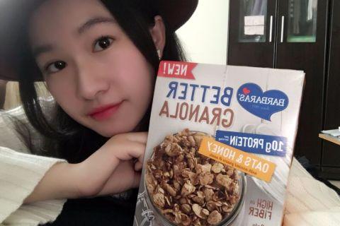 【 麥片女孩 yaya 】一起當低 GI 女孩,Barbara's 燕麥蜂蜜早餐穀片