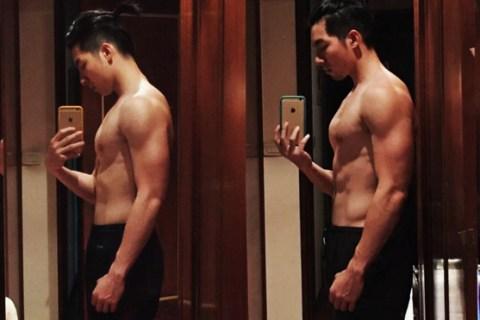 【蛋白男女】從身材乾扁到有胸有腹肌的帥哥權紘