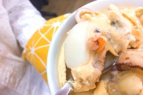 【麥片食譜】讓同事看到都驚呆的懶人料理- 海陸豪華旗艦版 aka 土豪茶碗蒸