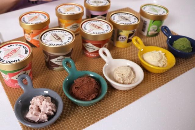 各種口味的低醣高蛋白冰淇淋