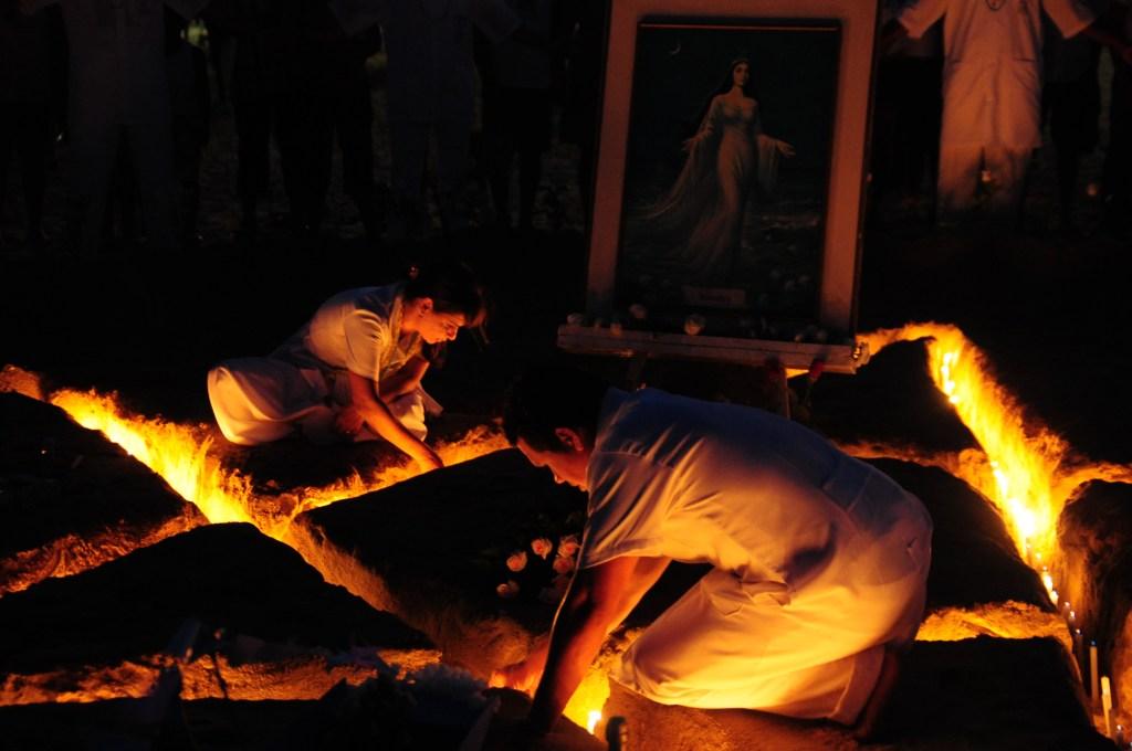 Festa de Iemanja na Praia de Camburi, Vitoria, Esp'rito Santo