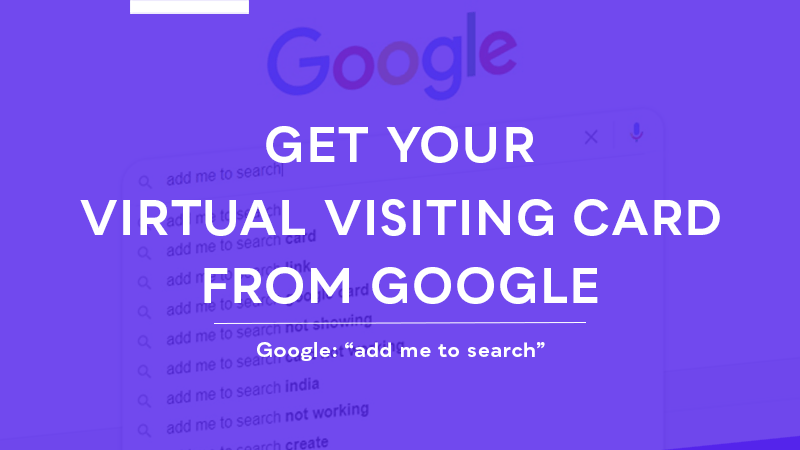 google virtual visiting card