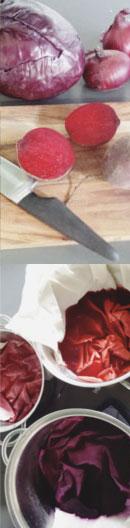 rodekool paars kleurstof