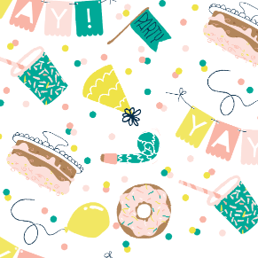 Party pattern illustrated giftwrap