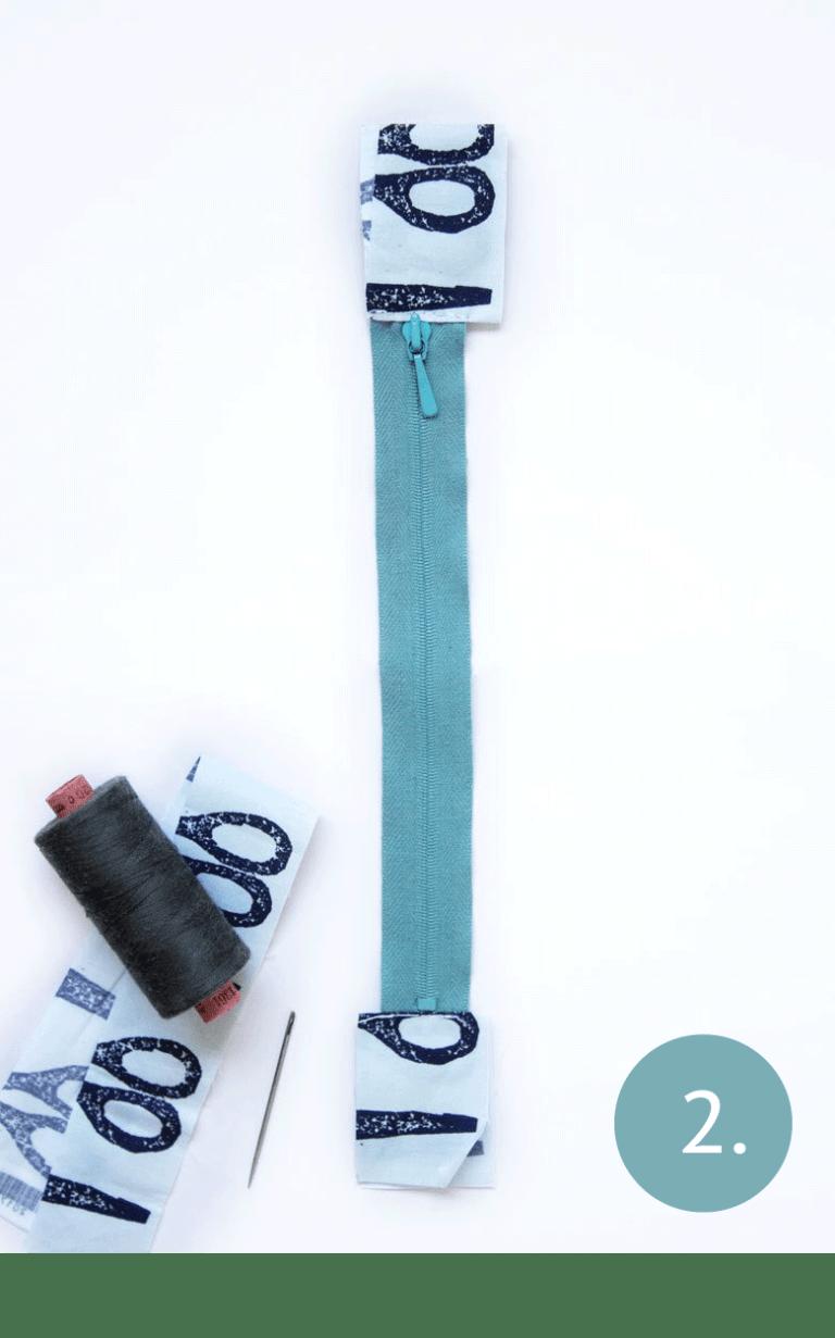 DIY pencil case - step 2